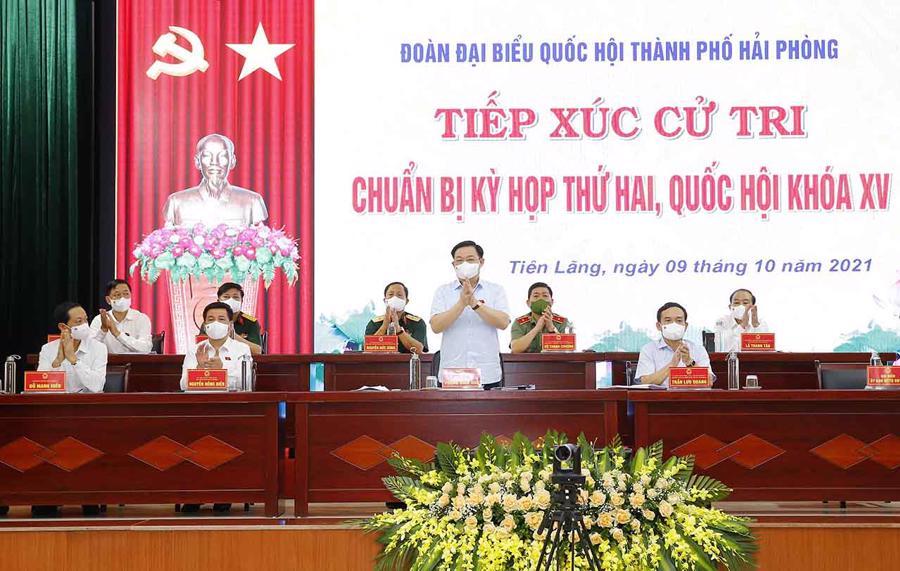 Toàn cảnh buổi làm việc - Ảnh: Quochoi.vn