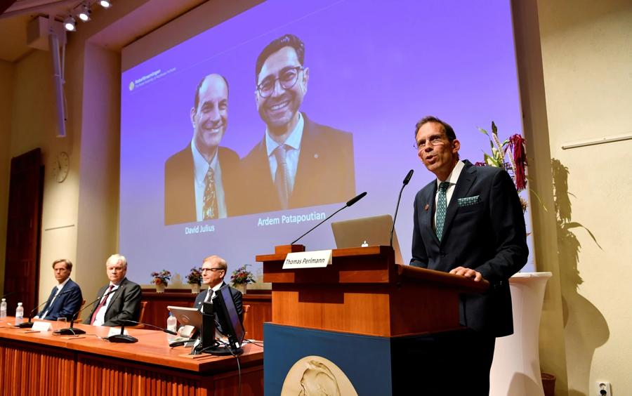 Quang cảnh lễ trao giải Nobel Y học năm 2021 ở Stockholm (Thụy Điển).