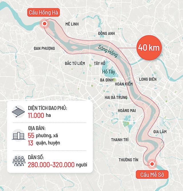 Quy hoạch sông Hồng: Hình thành bộ mặt mới của Hà Nội - Ảnh 1