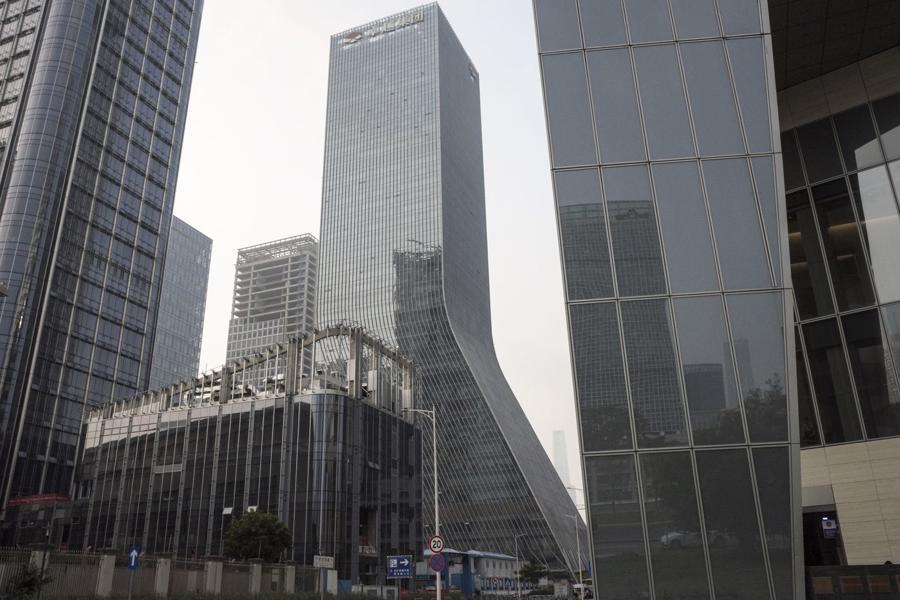 Trụ sở Evergrande ở Thẩm Quyến, Trung Quốc - Ảnh: Bloomberg.