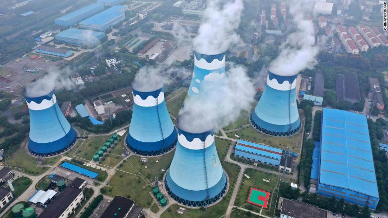 Một nhà máy nhiệt điện ở Nam Kinh, Trung Quốc.