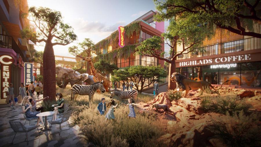 Vườn thú digital sẽ là điểm nhấn đặc biệt, thu hút khách đến dự án sắp ra mắt của Flamingo tại Hải Tiến. Ảnh Flamingo.