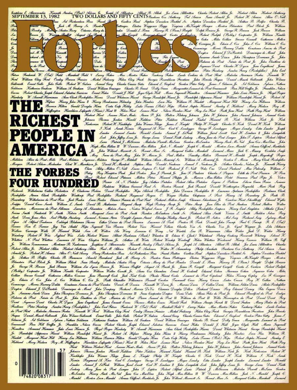 Forbes 400 lần đầu được công bố vào năm 1982 - Ảnh: Forbes