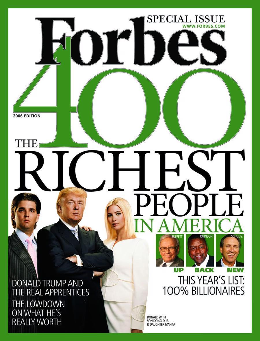 Năm 2006, lần đầu tiên danh sách Forbes 400 chỉ có những thành viên có tài sản từ 1 tỷ USD trở lên - Ảnh: Forbes