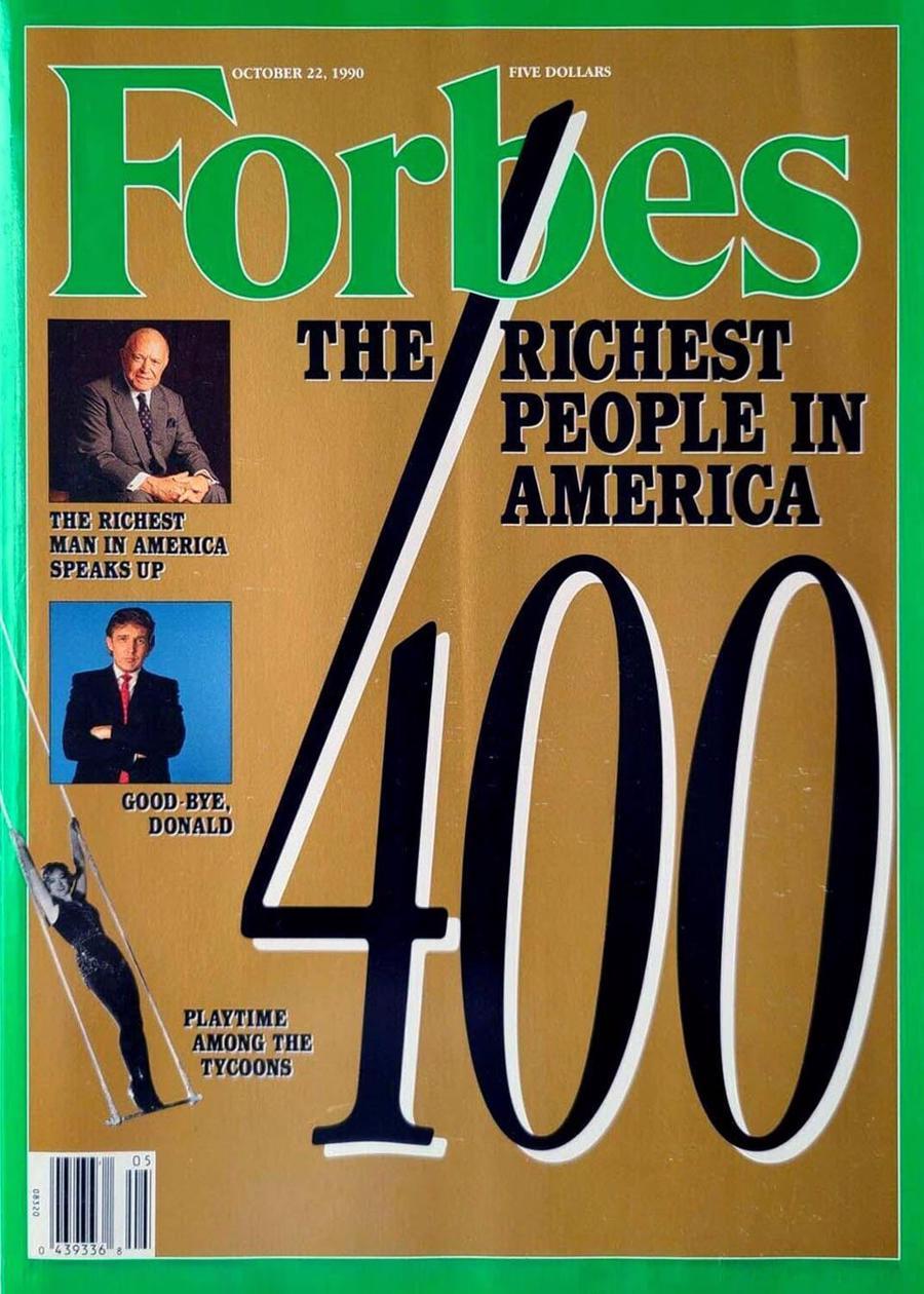 Trang bìa Forbes khi công bố Forbes 400 năm 1990 - Ảnh: Forbes