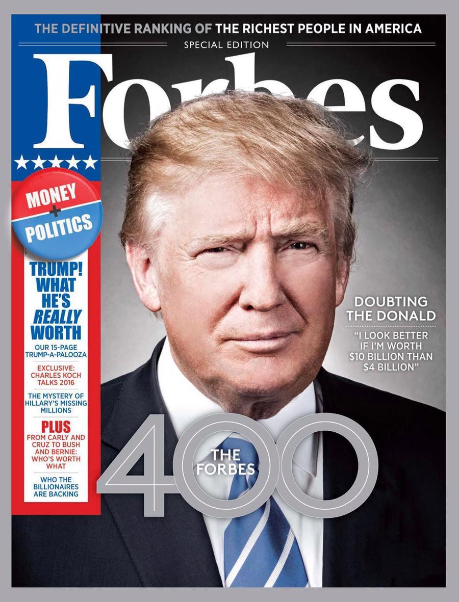 Ông Donald Trump tuyên bố tranh cử tổng thống vào năm 2015 - Ảnh: Forbes
