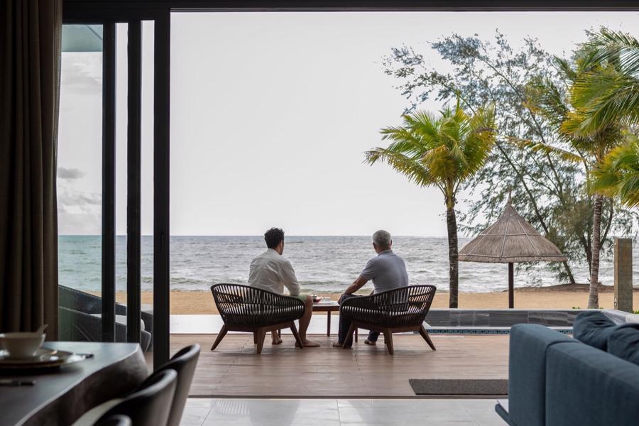 Không gian riêng tư, tĩnh lặng tại biệt thự nghỉ dưỡng Mövenpick Villas & Residences Phú Quốc.