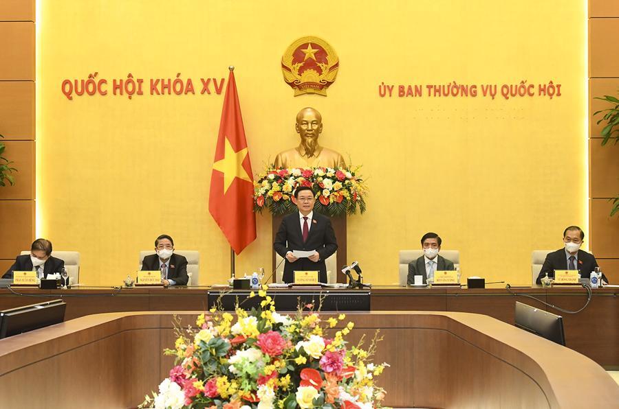 Chủ tịch Quốc hội đánh giá cao sáng kiến Diễn đàn các nhà Lãnh đạo Doanh nghiệp Việt Nam và vinh danh các Thương hiệu mạnh Việt Nam doLiên hiệp các hội Khoa học và Kỹ thuật Việt Nam và Tạp chí Kinh tế Việt Nam tổ chức - Ảnh: Quochoi.vn