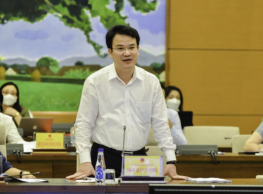 Thứ trưởng Bộ Kế hoạch và Đầu tư Trần Quốc Phương - Ảnh: Quochoi.vn