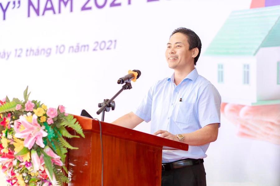 Chủ tịch Tập đoàn Kosy, ông Nguyễn Việt Cường phát biểu tại buổi lễ.
