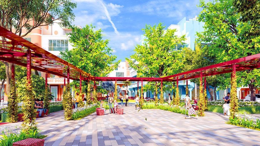 Hệ thống công viên với đầy đủ tiện ích mang đến những trải nghiệm ấn tượng cho cư dân và du khách. Ảnh phối cảnh minh họa.
