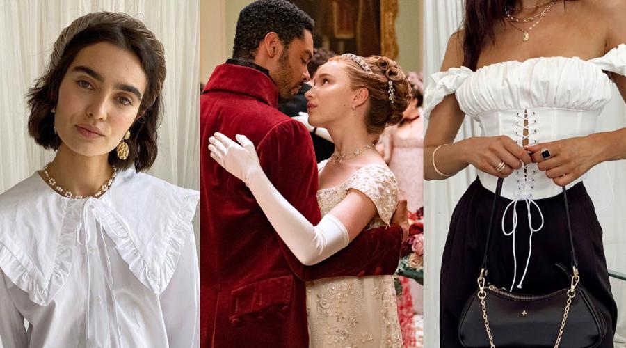 """Series phim Bridgertonđã truyền cảm hứng cho xu hướng """"Regencycore"""" thịnh hành trên mạng xã hội."""