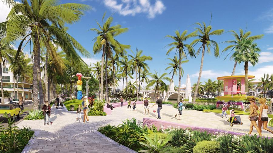 Sun Riverside Village góp phần hoàn thiện hệ sinh thái du lịch - thương mại - nghỉ dưỡng - lưu trú sầm uất bậc nhất xứ Thanh. Ảnh phối cảnh minh họa.