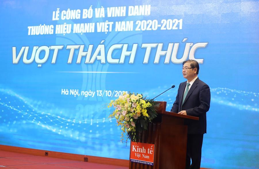 Ông Phan Xuân Dũng,Chủ tịch Liên Hiệp các Hội Khoa học Kỹ thuật Việt Nam, phát biểu chào mừng sự kiện - Ảnh: Giang Nam.