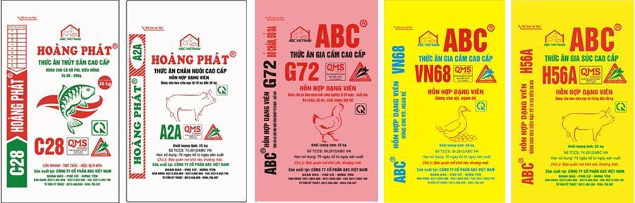 Một số sản phẩm của ABC Việt Nam.
