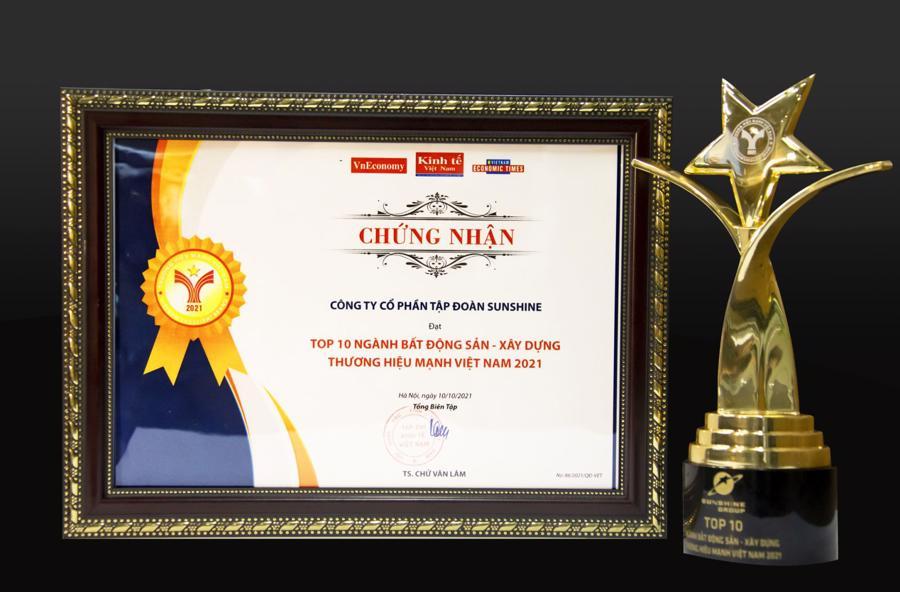 Sunshine Group: Top 10 Thương hiệu Mạnh Việt Nam ngành Bất động sản - Xây dựng - Ảnh 1