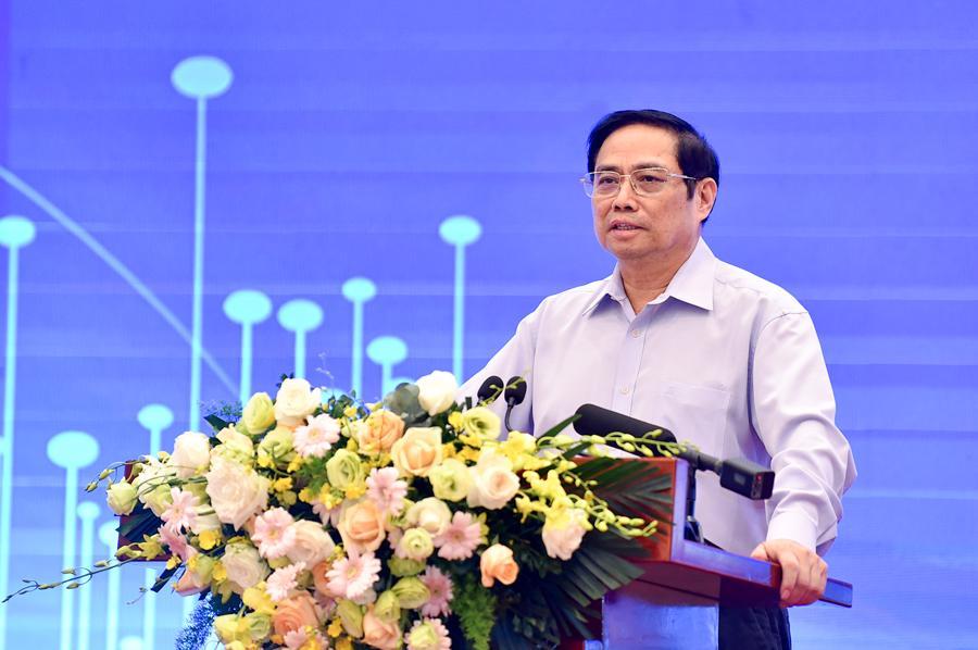 Thủ tướng Phạm Minh Chính phát biểu tại sự kiện - Ảnh: VGP
