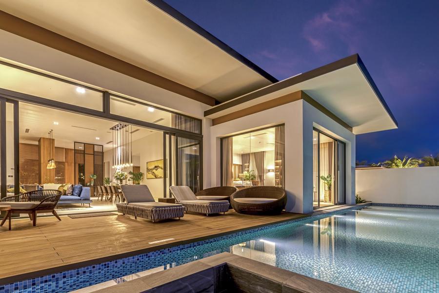 100% biệt thự tại Mövenpick Villas & Residences Phú Quốc đều có bể bơi.